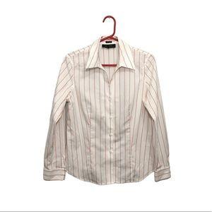 Jones New York Non-iron Stripe Button Up Shirt 10P